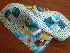 Baby Fabric Toy Tag Quilt FREE SHIPPING Sea by SillyGrammaQuilts, $19.00