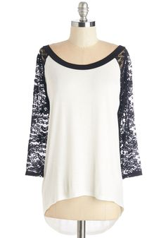 All About Rachel Top. Whats black, white, and edgy all over? #white #modcloth