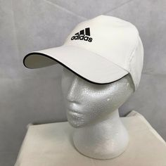 562b8afc996 Adidas Climalite Mens White Tennis Sports Cap Hat OSFM Adjustable Strapback   fashion  clothing  shoes  accessories  mensaccessories  hats (ebay link)