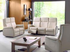 AUREA - Lederen salon met elektrische relax, de perfecte saloncollectie voor zij die comfort hoog in het vaandel dragen. Beschikbaar in meerdere kleuren | Meubelen Crack