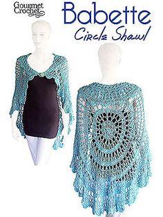 Gourmet Crochet Babette Circle Shawl Pattern at Dream Weaver Yarns LLC