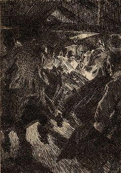 Anders Zorn - Swedish (1860 - 1920) - Gopsmor Cottage. Fine Art Print