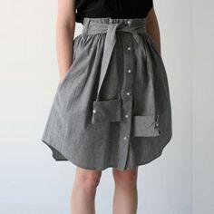 Chemise d'homme transformée en jupe - Marie Claire Idées