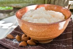 A medieval rice pudding from an authentic recipe circa 1420 Medieval Recipes, Ancient Recipes, Old Recipes, Vintage Recipes, Cooking Recipes, Pudding Recipes, Dessert Recipes, Desserts, Renaissance Food