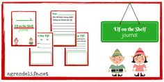 Elf on the Shelf #Free #Printable Journal #EOTS