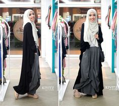 styling with long card Islamic Fashion, Muslim Fashion, Modest Fashion, Hijab Dress, Hijab Outfit, I Dress, Street Hijab Fashion, Abaya Fashion, Fashion Muslimah