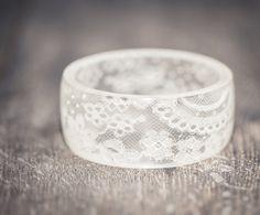 White Lace résine bracelet Bracelet Vintage Français dentelle large manchette…