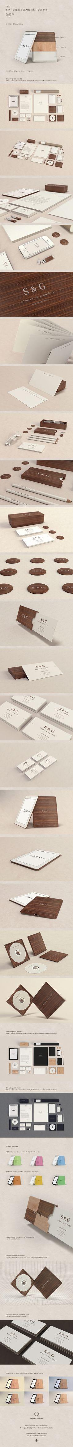 Stationery / Branding Mock-Up - Woods & Plastic