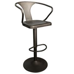 !nspire ADJUSTABLE HEIGHT SOLID METAL STOOL IN GUNMETAL FINISH Canada online at SHOP.CA - 841173023454. Embrace your urge to go industrial chic and this stool will embrace you right back! The curved back and arms provide a comfortable Stools & Benches