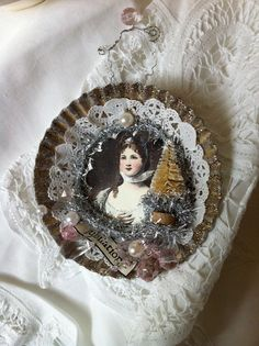 Handmade Christmas Ornament Angel Victorian Style by ParisPluie