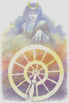 X. The Wheel of Fortune - Tarot of Northern Shadows. by Sylvia Gainsford