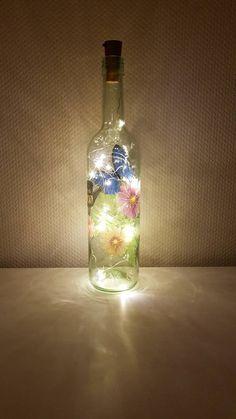 Light Chain, Bottle Lights, Vodka Bottle, Zen, Hand Painted, Etsy Shop, Make It Yourself, Painting, China Mugs