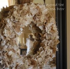 fabric wreaths | Shaggy Fabric Wreath Tutorial | Beyond the Screen Door