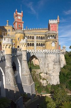 Day Began with a drive out to Sintra - Palácio da Pena, Portugal Sintra Portugal, Ericeira Portugal, Spain And Portugal, Portugal Travel, Places Around The World, Oh The Places You'll Go, Travel Around The World, Places To Travel, Places To Visit