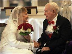 old wedding couple