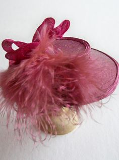 lovely pink silk 1/12th scale hat