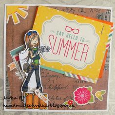 Say Hello, Cardmaking, Scrapbook, Paper, Summer, Inspiration, Biblical Inspiration, Making Cards, Summer Time