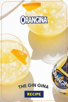 This take on a Tom Collins combines the bright botanical notes of gin with the real-citrus sparkle of Orangina. Holiday Drinks, Fun Drinks, Alcoholic Drinks, Beverages, Liquor Drinks, Starbucks Drinks, Coffee Drinks, Tom Collins, Kitchen Organisation