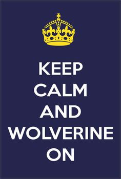 Keep Calm and Wolverine On Michigan Wolverines by StickerTiger, $2.99