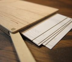 Minimalist Wooden Biz Card Holder - No bent edges here!