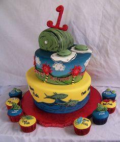 Dr. Seuss Cake & Cupcakes