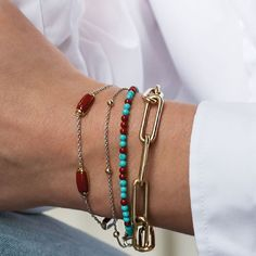 Coral Bracelet, Silver Bracelets, Bangles, Red Cross, Stone Bracelet, Turquoise, Jewels, Gold, How To Wear