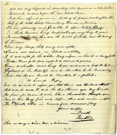 """Gov. Henry Wise received this letter signed """"Brutus"""" after the arrest of John Brown, an militant abolitionist who was later convicted and sentenced to death in Virginia. The letter compares Brown with George Washington--saying that both used violence in the pursuit of freedom and that """"sauce for the goose ought to be sauce for the gander."""" The author warns that this will not be the last violent opposition to slavery.  Gov. Henry A. Wise, Record Group 3, Library of Virginia."""