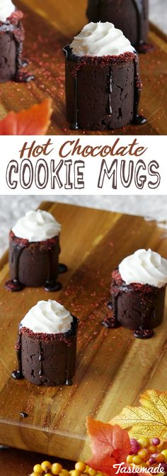 Satisfy your chocolate craving with these decadent cookie mugs.