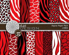 Red Animal Prints This isn't fabric but thus tore of pattern would be cool for a diaper bag and/or car seat cover. LOVE this red and black animal print.  animal- Digital Scrapbook Paper - Red Leopard, Red Zebra, Red Tiger - Digital Background for Valentines Day (DP080R)