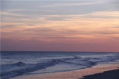 """Photo of the Day: Atlantic Beach in North Carolina at dusk, by """"watchscott"""" 4/6/13."""