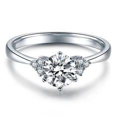 Art Deco Round Cut Natural Diamond Engagement by ldiamondsforever
