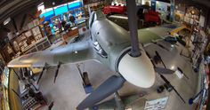 Spitfire and Hurricane Museum with World War Two artefacts on a Battle Of Britain airfield in East Kent Hawker Hurricane, Memorial Museum, Battle Of Britain, Mistletoe, World War Two, Dory, Cottage, Memories, Collection