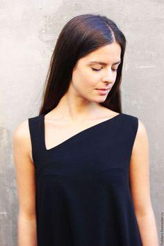 """Купить Платье """"Long"""" D0010 - сарафан из поливискоза, необычная одежда, современный стиль, городской стиль"""