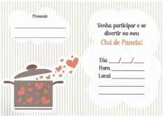 convites para cha de panela para imprimir