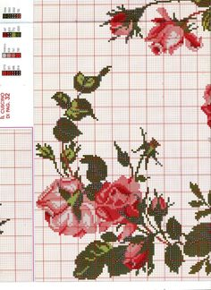 This Pin was discovered by İlk Cross Stitch Boards, Cross Stitch Rose, Cross Stitch Alphabet, Cross Stitch Flowers, Rose Embroidery, Cross Stitch Embroidery, Cross Stitch Designs, Cross Stitch Patterns, Rico Design
