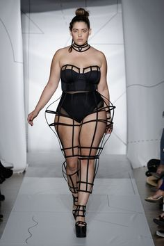 """Denise Bidot is making waves. As a size-14 model, she's worked with Forever 21, Target, Levi's, Nordstrom, Macy's, Old Navy…and the list goes on. During NYFW 2014, she became the first plus-size model to walk the runway for non plus-size brands: CHROMAT and Serena Williams. Starring on the series Curvy Girls, she's also an advocate of body acceptance. As Bidot herself states, """"there is no wrong way to be a woman."""" - MarieClaire.com"""
