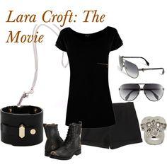 Lara Croft: The Movie, created by #kalininwonderland on polyvore.com