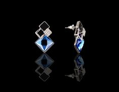 Marilyn's Blue Diamond Fantasy Earrings - $30 http://www.muwae.com/shop/marilyns-blue-diamond-fantasy-earrings