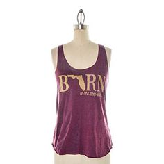 Judith March Women's Born in Deep South Tank Top - Cranberry $37.95