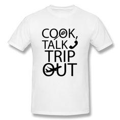 Cheap De manga corta de la camiseta de los hombres de Cook Talk viaje fuera Classic Logo Hombres Camisetas, Compro Calidad Camisetas directamente de los surtidores de China: