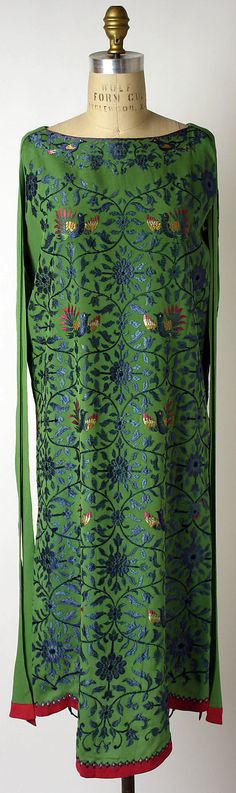 Magnificent Hand embroidered Evening dress.  Callot Soeurs  (French, active 1895–1937)