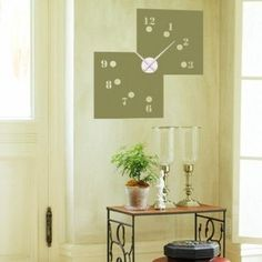 Style and Apply Missing Numbers Wall Clock Wall Decal Color: Dark Green