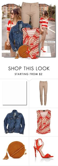 """""""SS Must Have - Denim Jacket"""" by breathing-style ❤ liked on Polyvore featuring Barbour, Gap, Vivienne Westwood Anglomania, Forever 21 and GUESS"""