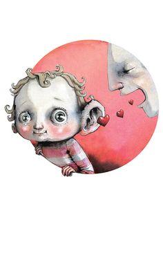 OM samspill i DBMagasinet Baby Illustration, Shape Art, Cartoon Drawings, Art Forms, Art For Kids, Brave, Fantasy Art, Illustrator, Lisa