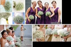 wedding bouquet with 3 roses and baby's breath | Found on boards.weddingbee.com