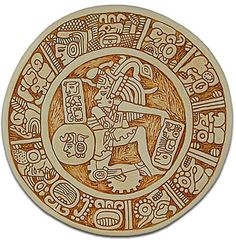 From Palenque, Mexico 590 A.D. Surrounded by hieroglyphs, an ancient ball player demonstrates his skill and strength. The player's ability to manipulate and move the ball into stone rings, without the use of hands, was played to honor the gods with skill.