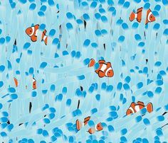 Clown Fish Cave fabric by illustrative_images on Spoonflower - custom fabric