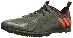 adidas Performance Men's Xcs Spikeless Cross-Country Running Shoe, Base Green/Solar Red/Clear Brown, 10 M US - Brought to you by Avarsha.com