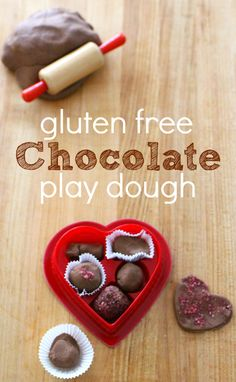 This is the BEST gluten free play dough recipe and it's chocolate. Perfect for Valentine's day sensory play.