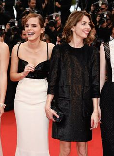 Emma Watson posed with director Sofia Coppola at the 2013 Cannes Film Festival